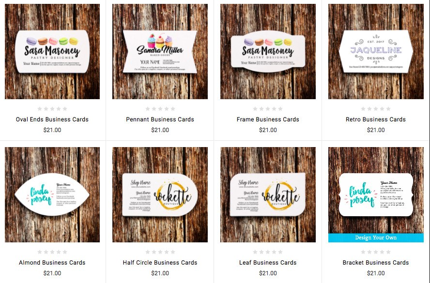 Saddle Hill customized rustic business cards