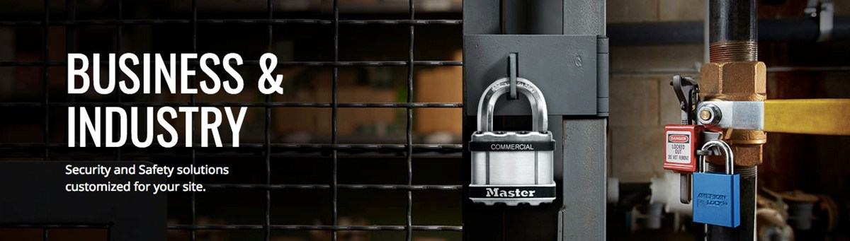 Master Lock business and industry banner