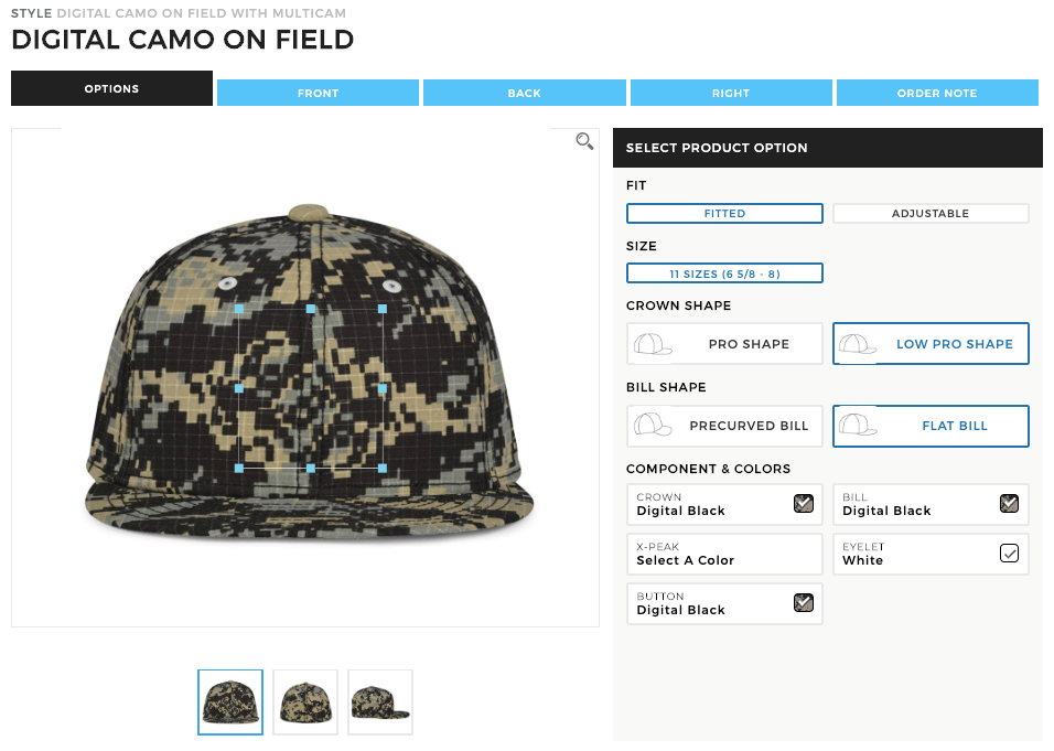 MV Sport Digital Camo Cap Customization Artifi Labs